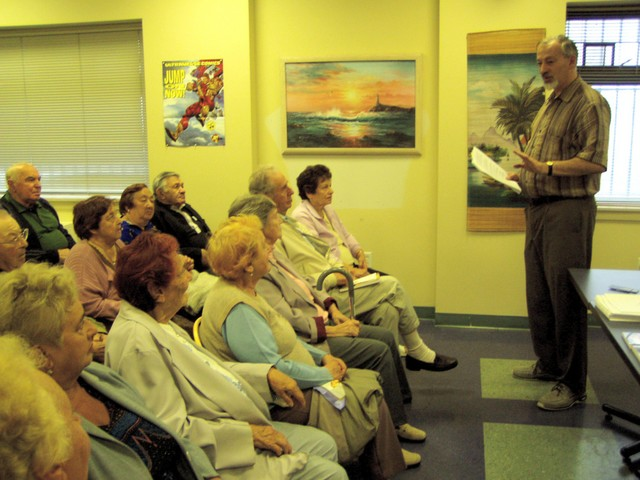 """Free lecture """"Doctor Temnikov Method of Informational Correction"""" for senior citizens. September 10, 2006, Brooklyn, NY"""